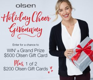 Olsen Fashion Canada – Win a grand prize of a $500 gift card OR 1 of 2 minor prizes