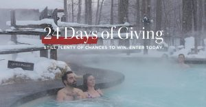 Scandinave Spa Blue Mountain – 24 Days of Giving Christmas – Win 1 of 24 gift cards