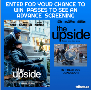 Tribute Publishing – Win 1 of 10 double passes to see 'The Upside' valued at $22 each