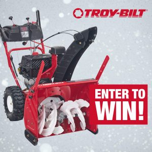 Troy-Bilt Canada – Christmas Giftaway – Win a Troy-Bilt 24″ 2-stage snowblower with electric start valued at $999