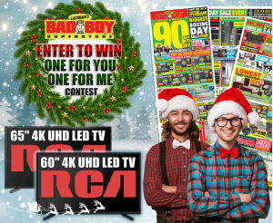 Lastman's Bad Boy – Win a RCA TV for you, and one for a friend