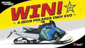Rockstar – Win a 2019 Polaris Indy EVO valued at $6,999 CAD