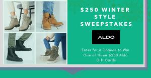Aldo Canada – Win 1 of 3 Aldo gift cards valued at $250 CAD each