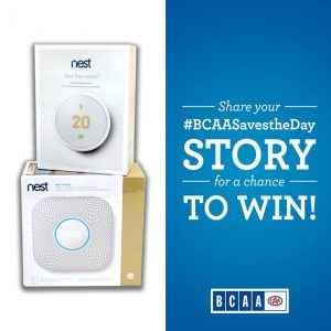 BCAA – – #BCAASavestheDay – Win 1 of 3 Nest Smart Home packages valued at $400 each