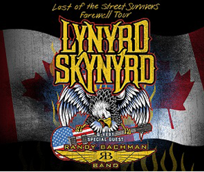 Capital Sports Properties – Lynyrd Skynyrd Canadian Tire Centre – Win 2 tickets valued at $181 CDN