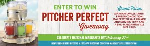 Margaritaville – Pitcher Perfect – Win a prize package valued at $719