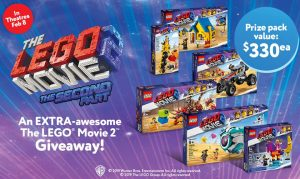 Mastermind Toys – Win 1 of 3 The Lego Movie prize packs valued at $330 each
