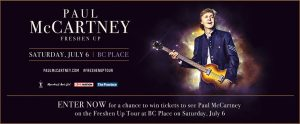 Paul McCartney – Win 2 admission tickets to the Paul McCartney performance valued at $378