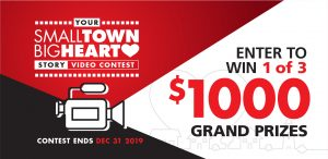 Red Apple – Small Town Big Heart – Win 1 of 3 Cash prizes valued at $1,000 each