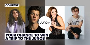 Stingray Music – Win a trip for 2 to London, Ontario plus tickets to The 2019 Juno Awards Broadcast valued at $4,000 CDN