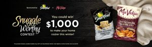 Tasty Rewards – Snuggle Worthy Snacks – Win a $1,000 cash prize