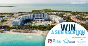 Travel Direct Group – VIP Vacation Newsletter – Win a vacation package for 2 valued at $3,000