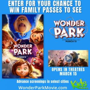 Tribute Publishing Kids – Win 1 of 10 Family passes (4 seats) to see 'Wonder Park' valued at $40 each