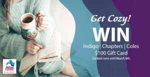 Atlas Van Lines – Get Cozy – Win a $100 gift card to Indigo