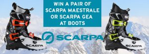 Backcountry Skiing Canada – Win a pair of SCARPA Maestrale OR SCARPA Gea Boots