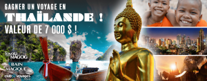 Bell Media – In the Land of Smiles – Win a trip for 2 to Thailand for 10 days valued at $7,000 CDN