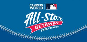 Camping World – 2019 MLB All-Star Getaway – Win a prize package valued at $4,955