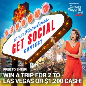 Carlson Wagonlit Travel – Win a trip for 2 to Las Vegas OR $1,200 cach