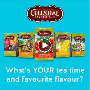 Celestial Seasonings – Win 1 of 10 cases of Celestial Seasonings Tea valued at $25 each