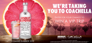 Corby Spirit and Wine – Coachella 2019 – Win a VIP Experience to Coachella Valley Music and Arts Festival for 4 people valued at up to $11,699