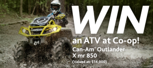 Federated Co-operatives – Win a 2019 Can-am OUtlander ATV valued at $14,099
