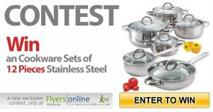Flyers Online – Win a Cookware set of 12 pieces Stainless Steel