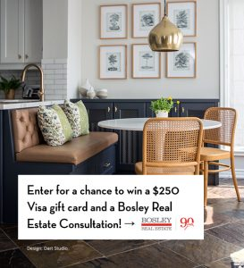 House & Home – Win a Visa gift card value at $250 PLUS a Bosley Real Estate consultation