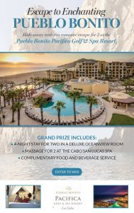 Interactive Wellness Group – Win an escape to Enchanting Pueblo Bonito valued at $1,057