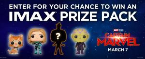 Landmark Cinemas – Captain Marvel Imax – Win 1 of 5 prize packs valued at $40 each