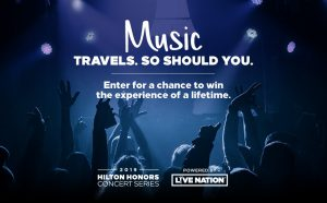 Live Nation – Hilton Domestic Operating Company – Win a trip for 2 to the concert