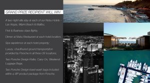 Nobu Hotels – Live the Dream, Travel Well – Win a travel prize package valued at up to $100,000