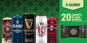 Sobeys Capital – Voisin – Win 1 of 20 Guinness Darts valued at $250 each