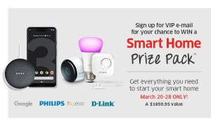 The Source – Win a Smart Home prize pack valued at $1,859