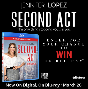 Tribute Publishing – Win 1 of 5 copies of SECOND ACT on Blu-ray valued at $26.99 CND each