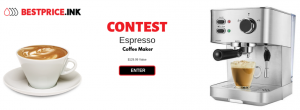 Best Price – Win an Espresso Coffee Maker