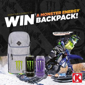Circle K Atlantic – Win 1 of 10 Monster backpacks