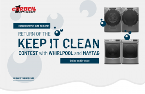 Corbeil Appliances – Win 1 of 2 sets of Washer/Dryer