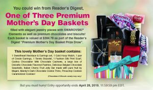 Readers Digest – Win 1 of 3 Mother's Day hampers