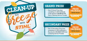 STIHL – Win a grand prize of a Molly Maid gift card valued at $5,000 OR a minor prize