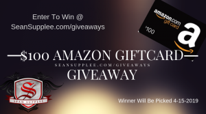 Sean Supplee – Win a $100 Amazon Gift Card