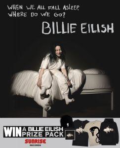Sunrise Records – Win a Billie Eilish prize pack valued at $99 CAD
