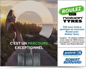 TVA Group & Robert Bernard Tires – Win 1 of 10 Nokian gift cards valued at $1,000 each