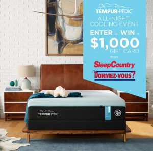 Tempur-Pedic – Win a $1,000 gift card