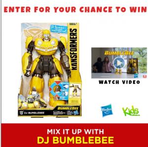 Tribute Publishing Kids – Win a DJ Bumblebee Hasbro Toy valued at $60 CDN