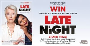 Canada.com – Win 1 of 245 double passes to the advance screening of Late Night