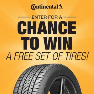 Continental Tire – Win a set of 4 tires valued at up to $1,800 CAD