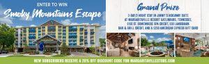 Margaritaville Holdings – Win a 3-day stay at Margaritaville Resort Gatlinburg