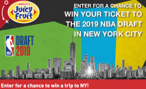 Mars Canada – Win a trip for 2 to NBA Draft in New York PLUs 2 tickets to the Awards