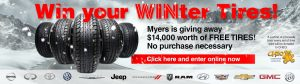 Myers Automotive Group – Win a set of 4 tires