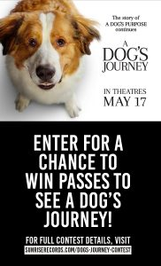 Sunrise Records – Win a ROE passes to see A Dog's Journey